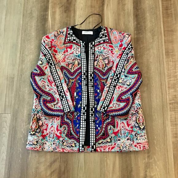 Zara Jackets & Blazers - Zara embroidered and embellished jacket